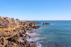 卡斯卡伊斯和大西洋海岸线  免版税图库摄影