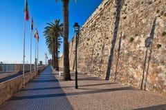 卡斯卡伊斯沿海城市的城堡  库存图片