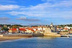 卡斯卡伊斯老镇,葡萄牙 免版税库存图片