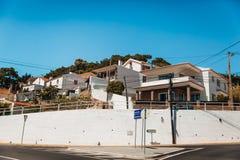 卡斯卡伊斯街看法,葡萄牙 库存照片