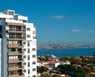 卡斯卡伊斯,葡萄牙住宅neigbourhood鸟瞰图  免版税库存照片