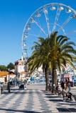 卡斯卡伊斯,葡萄牙- 2018年1月19日:Casca海边都市风景  免版税库存图片