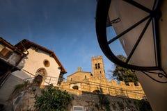 卡斯塔涅托卡尔杜奇,来克亨鸡,意大利- Gherardesca城堡 库存图片