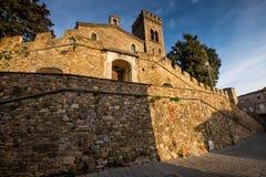 卡斯塔涅托卡尔杜奇,来克亨鸡,意大利- Gherardesca城堡 免版税库存照片