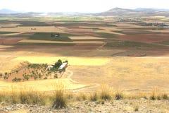 卡斯提尔拉曼查,西班牙风景  免版税库存照片