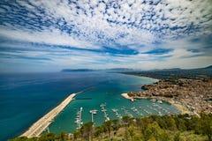 卡斯泰拉姆马雷德尔戈尔福西西里岛 库存照片