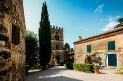 卡斯泰拉罗Lagusello,曼托瓦,意大利 免版税库存图片