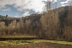 卡斯特利福利特德拉罗卡风景 免版税库存照片
