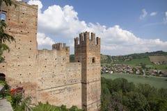 卡斯特尔` Arquato皮亚琴察意大利历史的中心 库存照片