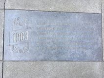 卡斯特罗街时间安排Marker, 1963年 免版税库存照片