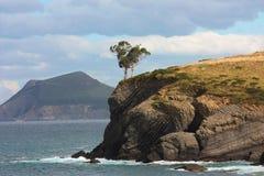 卡斯特罗-乌尔迪亚莱斯,西班牙风景  免版税库存照片