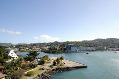 卡斯特里港口圣卢西亚 免版税库存图片