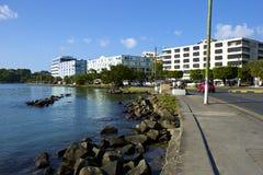 卡斯特里-圣卢西亚的首都全景,加勒比 库存图片