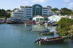 卡斯特里-圣卢西亚的首都全景,加勒比 库存照片