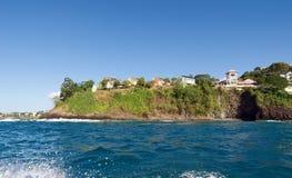 卡斯特里- La Toc海滩-圣卢西亚 免版税库存照片