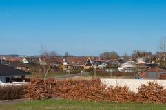 卡斯特鲁普村庄在丹麦 库存图片