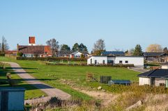 卡斯特鲁普镇在丹麦 免版税库存图片