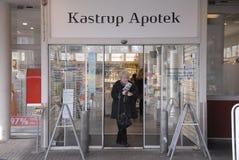 卡斯特鲁普APOTEK 免版税库存照片