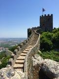 卡斯特鲁dos的Mouros停泊城堡 免版税库存图片