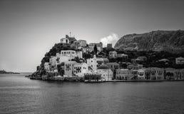 卡斯特洛里佐岛, Megisti港  希腊 免版税库存照片