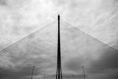 卡斯蒂利亚La Mancha桥梁在塔拉韦拉 库存图片