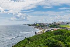卡斯蒂略圣费利佩台尔Morrro,老圣胡安,波多黎各 库存照片