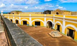 卡斯蒂略圣费利佩台尔Morrro,老圣胡安,波多黎各 图库摄影