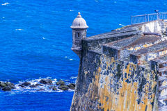 卡斯蒂略圣费利佩台尔Morrro,老圣胡安,波多黎各 免版税库存图片