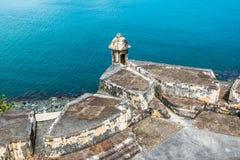 卡斯蒂略圣费利佩台尔Morrro,老圣胡安,波多黎各 免版税图库摄影
