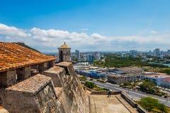 卡斯蒂略圣费利佩巴拉哈斯,印象深刻的堡垒 库存图片