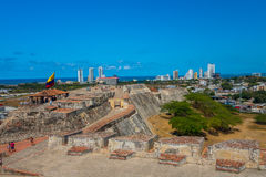 卡斯蒂略圣费利佩巴拉哈斯,印象深刻的堡垒 免版税库存图片