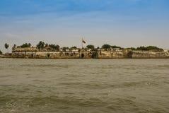 卡斯蒂略圣费利佩de巴拉哈斯是一个堡垒在市卡塔赫钠,哥伦比亚。 图库摄影