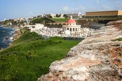 卡斯蒂略的圣费利佩del Morro历史的公墓 库存照片