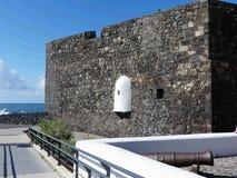 卡斯蒂略黑人,特内里费岛海岛 库存图片