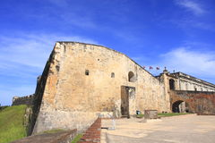 卡斯蒂略de圣克里斯托瓦尔 胡安・波多里哥圣 免版税图库摄影