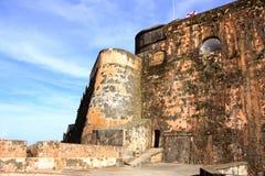 卡斯蒂略de圣克里斯托瓦尔 胡安・波多里哥圣 免版税库存图片