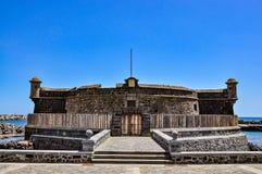 卡斯蒂略de圣胡安包蒂斯塔-约翰浸礼会教友,圣克鲁斯de特内里费岛城堡  库存照片