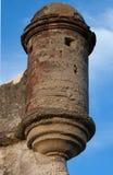 卡斯蒂略de圣马科斯,堡垒历史的枪塔在圣奥古斯蒂娜 免版税库存图片