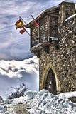 卡斯蒂略de Argueso nevado 免版税库存图片