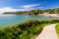 卡斯维尔海湾威尔士英国欧洲 免版税库存图片