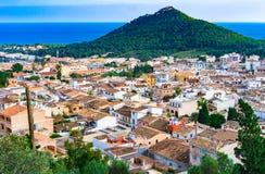 卡普德佩拉镇看法在马略卡海岛,西班牙上的 免版税库存图片