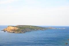 卡普拉亚岛视图 免版税库存图片