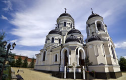 卡普里亚纳修道院-摩尔多瓦 免版税库存照片