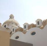 卡普里岛屋顶 图库摄影