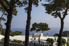 卡普里岛海岛,卡普里岛,意大利海岸线  免版税库存照片