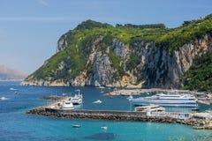 卡普里岛的美丽如画的地方 库存图片