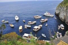 卡普里岛,意大利惊人的海岛  库存照片