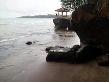 卡朗火山博隆海滩 免版税库存照片
