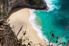卡朗火山达瓦观点,努沙Penida,巴厘岛 免版税库存图片