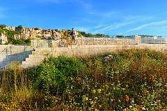 卡梅尼火山bryag古老废墟保加利亚 库存照片
